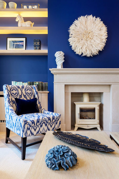 Astell Street - living room painted in blue