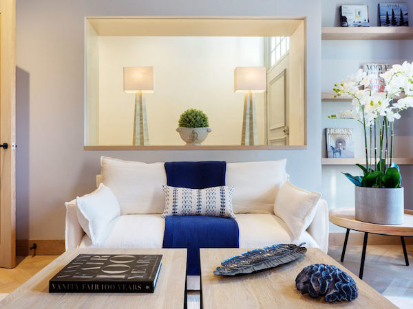Astell Street - living room painted in white