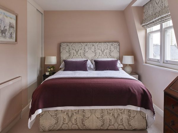 Barclay Road - bedroom painted in pink and white