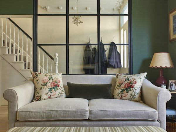 Barclay Road - living room painted in dark green