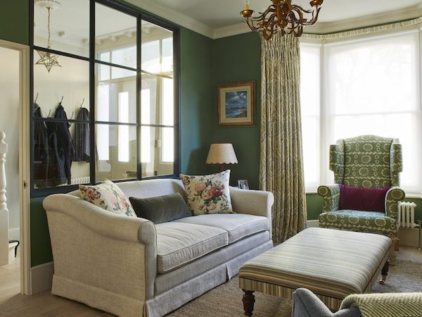 Barclay Road - living room painted in green