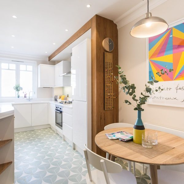 Blanchard House - kitchen painted in cream and white