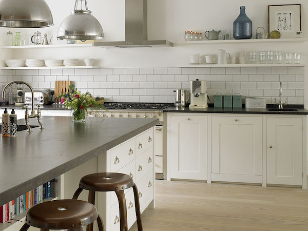 Margin Drive - kitchen painted in white