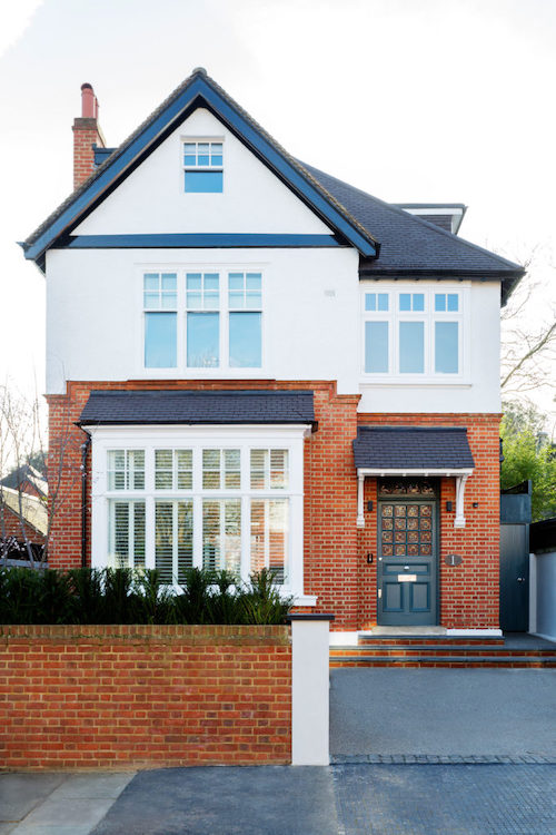Rusholme Road - house exterior painted in white