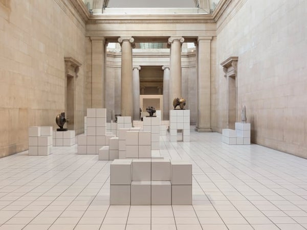 Tate Britain - 'The Squash' - ceramic white tiled boxes and tiled floors in duveen galleries