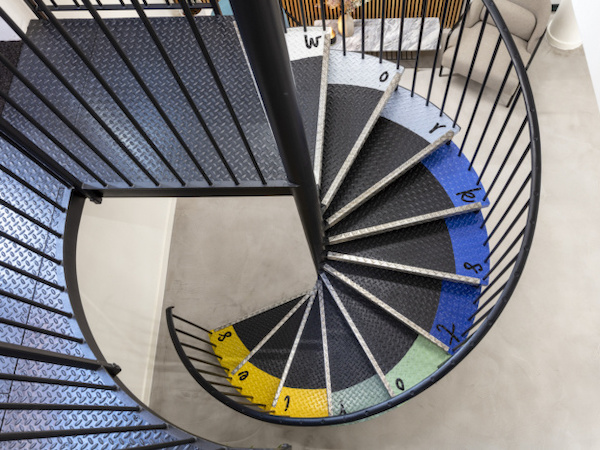 Workstories - colourful stairway